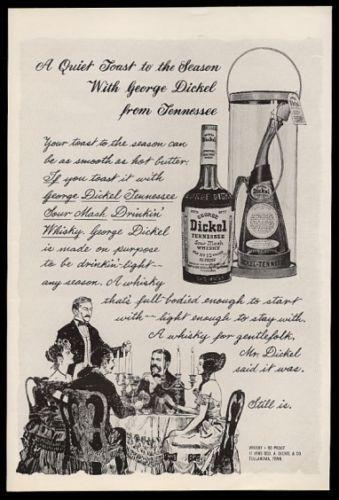 1965 George Dickel Whiskey Vintage Christmas Print Ad | eBay