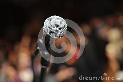 Blur audio microphone on disco