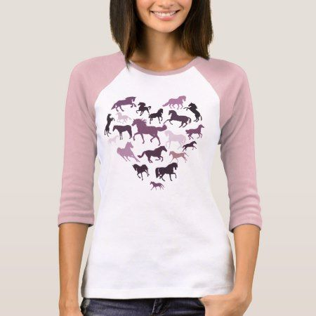 Horse and Heart Tshirt- Pink T-Shirt - tap to personalize and get yours