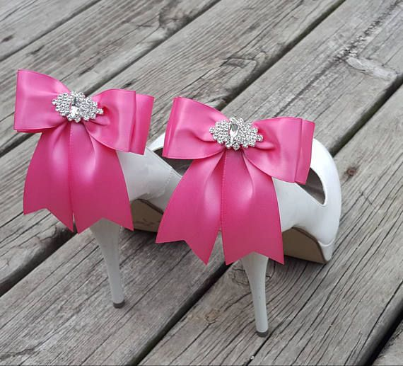Check out this item in my Etsy shop https://www.etsy.com/listing/524859224/hot-pink-wedding-shoe-clips-bridal-shoe