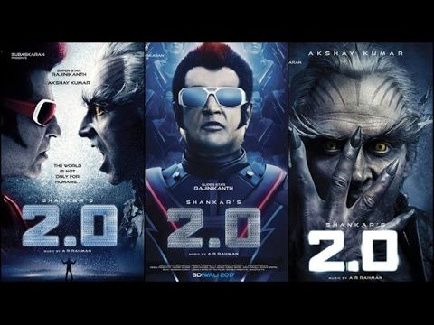 2 0 3D Trailer 2017   Rajnikanth, Akshay Kumar   YouTube
