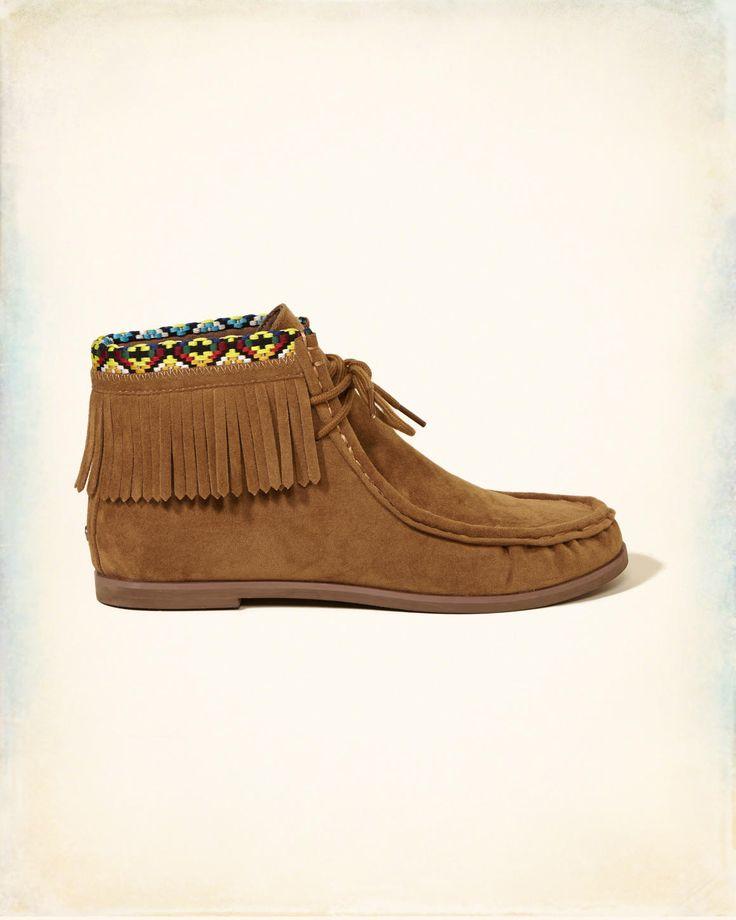 Filles - Bottines style mocassins en daim synthétique | Filles - Chaussures | eu.HollisterCo.com