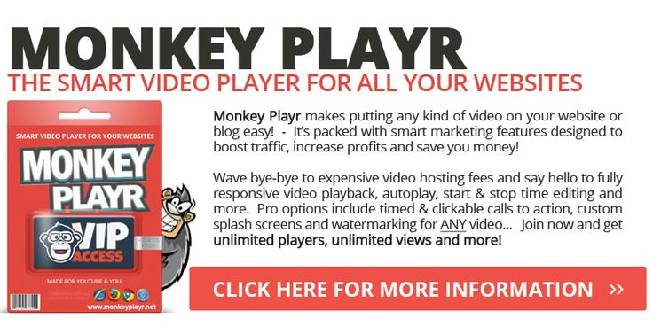 MonkeyPlayr Pro Review - MonkeyPlayr Pro is the best video player that boost sales, increase opt-ins and rake in more revenue!