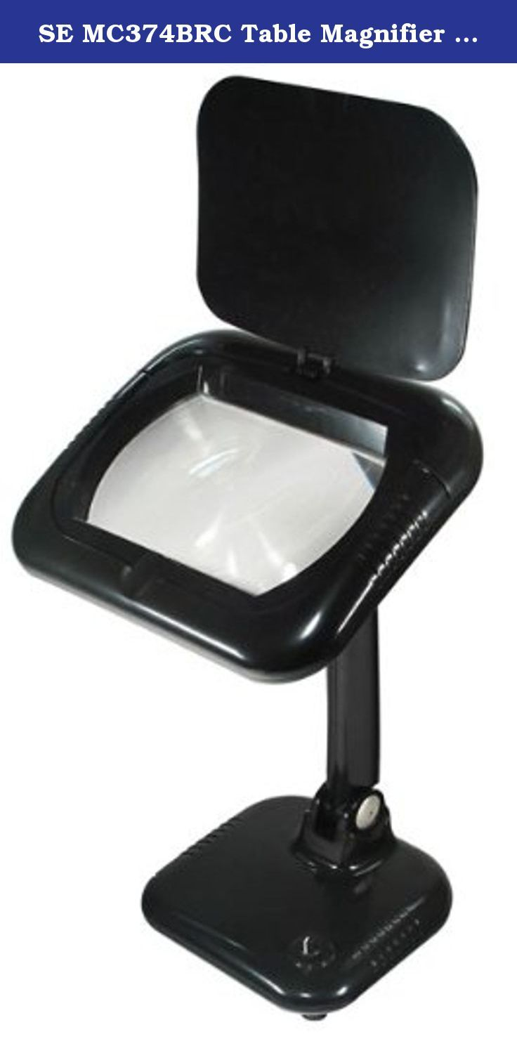 SE MC374BRC Table Magnifier Lamp 3X Magnifier Rechargeable. This lamp is a terrific accessory for the craftsman, hobbyist, mechanic and jeweler. It puts shadow-free lighting around a 4-Inch diameter, 3 power lens to let you see small parts and fine details, and is excellent for precision work.