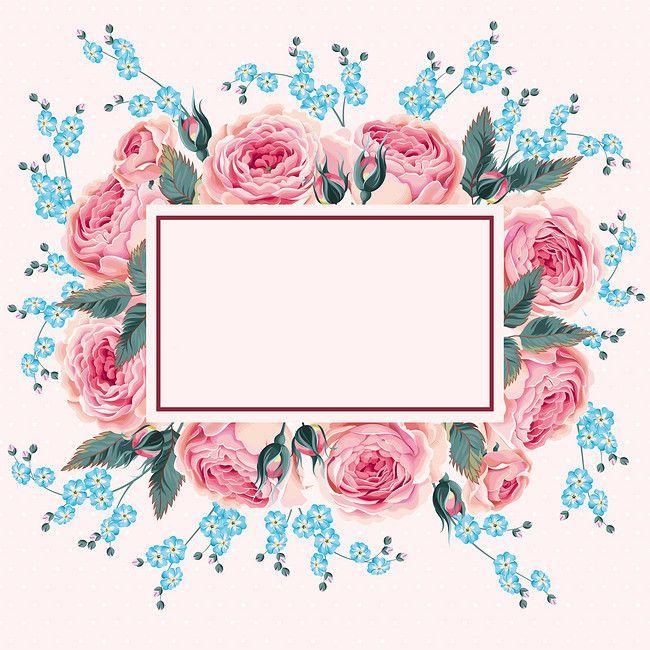 Acuarela frontera floral material de antecedentes, Pink, Acuarela, Flores, Imagen de fondo