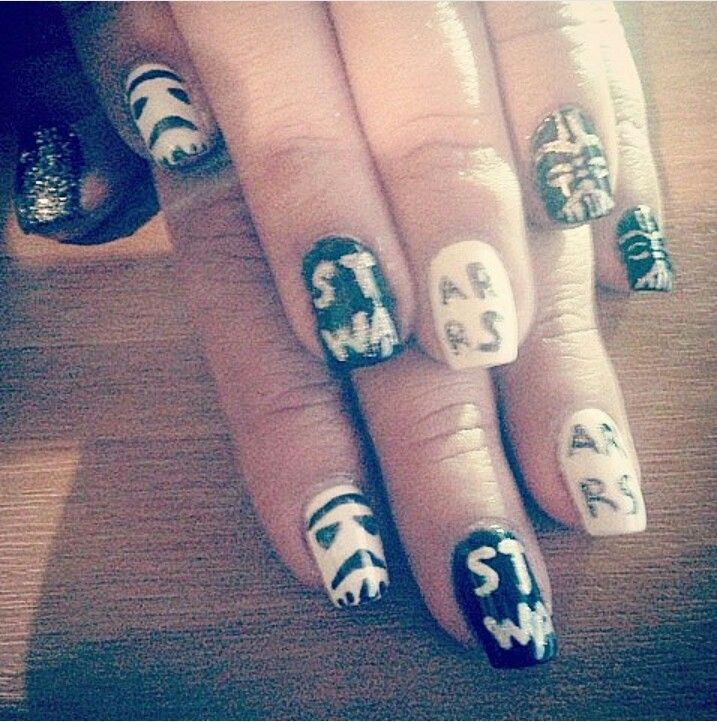 #starwars #nails #nailart #darthvader #naildesigns