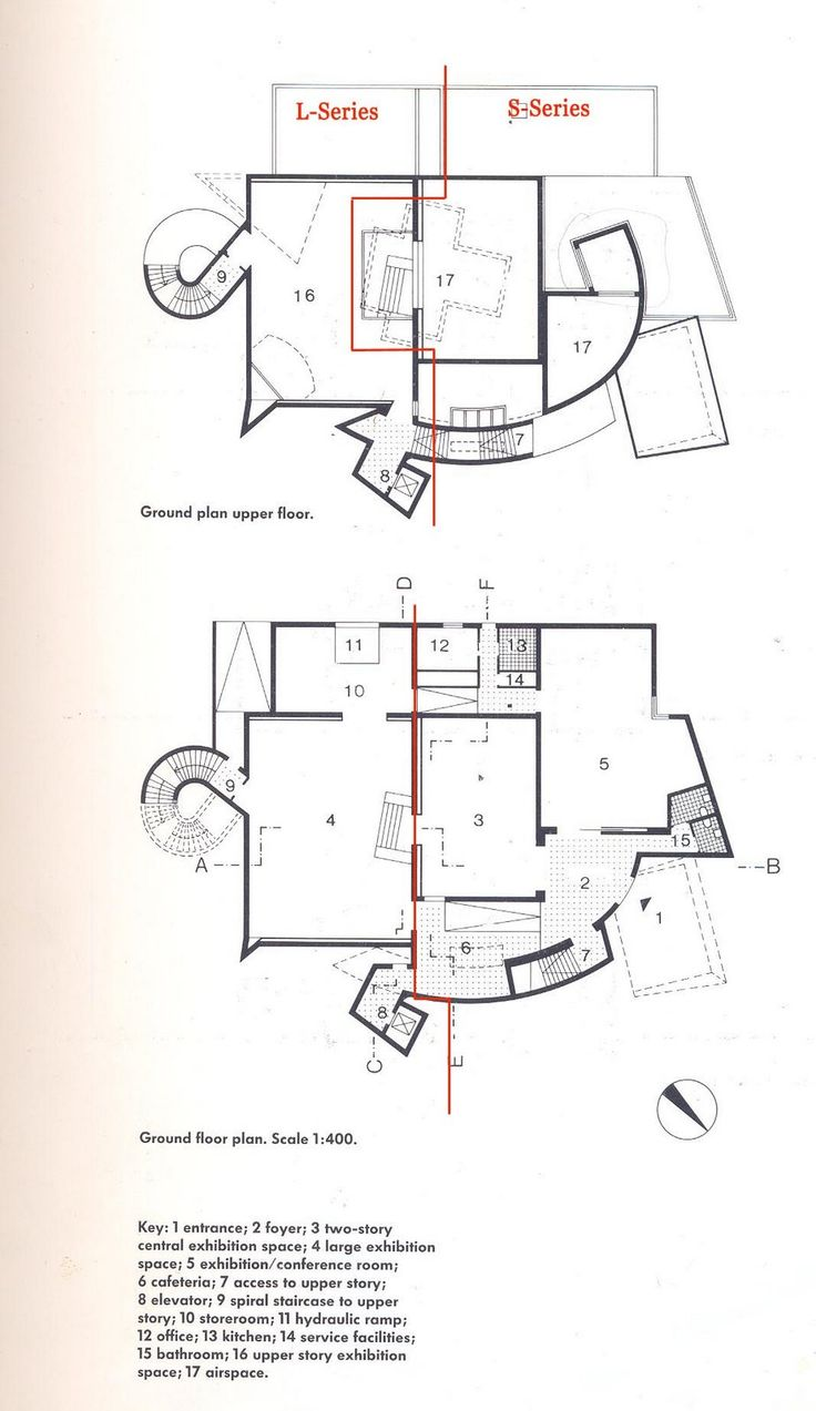 Plans Vitra Design Museum Frank Gehry Architecture