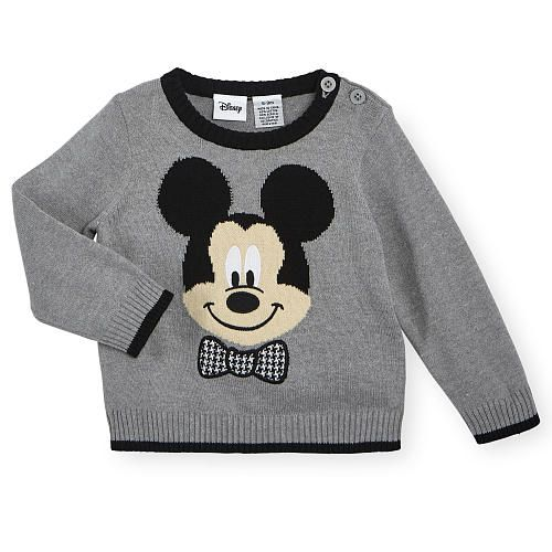 Little gentleman will look oh so adorable when pairing their favorite pair of bottoms with the Disney Baby Boys Grey Long Sleeve Mickey Mouse Jacquard Sweater. The cozy…