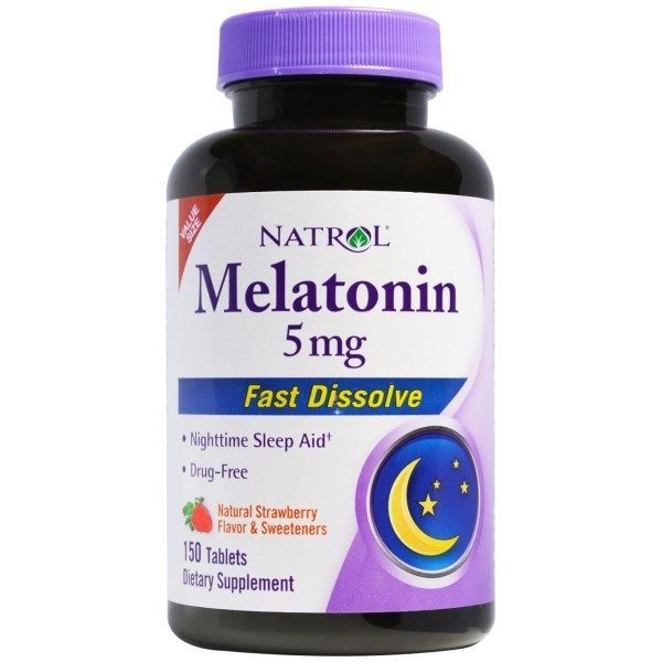 Natrol, Melatonin Fast Dissolve, Natural Strawberry Flavor, 5 mg, 150 Tablets | eBay