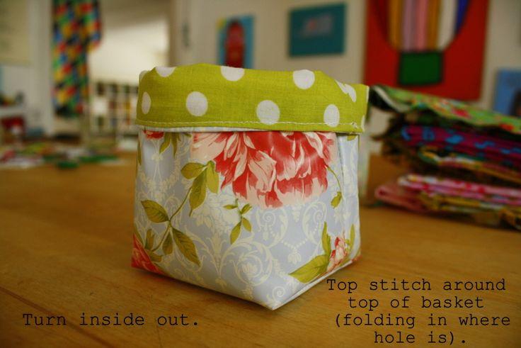 Tutorial: Small Fabric Basket