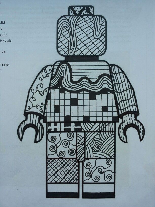 vb. Lego figuur met lijn.
