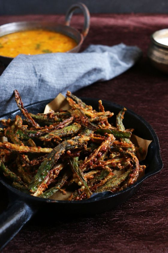 Crispy bhindi fry or kurkure bhindi recipe, crispy and feather light bhindi/okra…