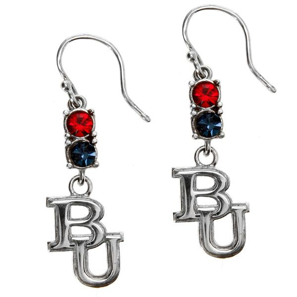 Belmont Bruins Dayna Designs Women's Sterling Logo Earrings With Crystals - $29.99