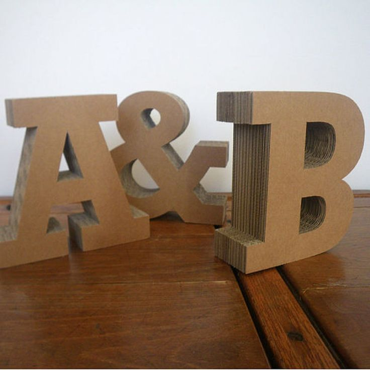 214 best images about letters on pinterest initials for Cheap 3d cardboard letters