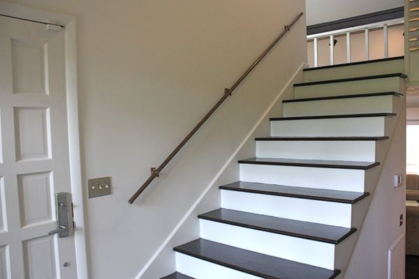 Floating Stairs And Copper Handrail For The House