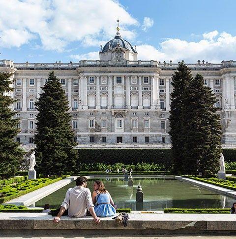 The Royal Palace's Sabatini Gardens #Madrid #Spain #travel