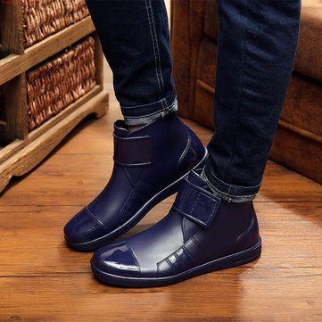 Men Casual Short Rain Boots Waterproof Outdoor Non-Slip Flats - US$29.99