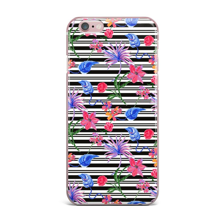 "DLKG Design ""Flower Party"" Black Pink iPhone Case from KESS InHouse"