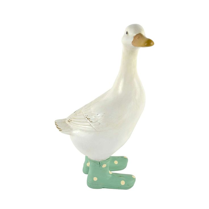 Duck Ornament with Welly Boots | Dunelm