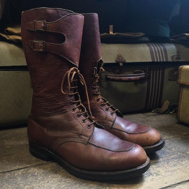 1945 British Army Officers Boots by Barratts