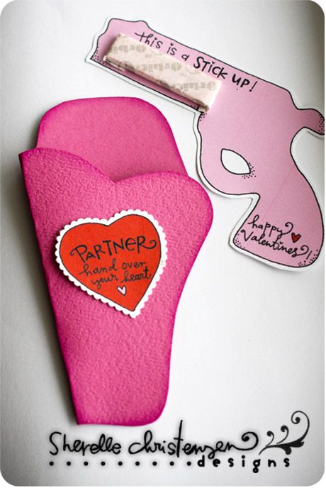 Pistol and Holder Valentines! This is so stinkin cute!!!