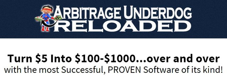 Arbitrage Underdog Reloaded 2015 – How to Turn $5 Into $100 – $100 Over and Over Without B.S, Fluff, and Doubt by Using The Most Successful Proven Software of Its Kind...  Check Detail => http://www.releasedl.com/arbitrage-underdog-reloaded-2015-review/