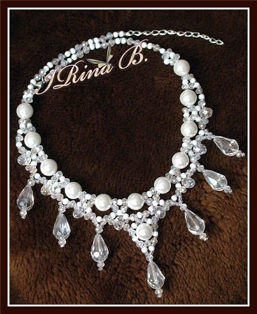 Pearl Crystal Necklace for Wedding. Craft ideas 5042 - LC.Pandahall.com