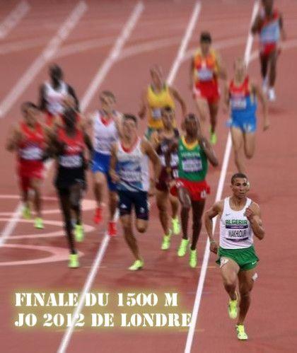 Algérie médaille d'or pour Taoufik Makhloufi, il remporte la finale du 1500 m au JO 2012 de Londre