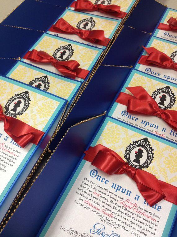 Snow White inspired birthday invitation by papercrew on Etsy