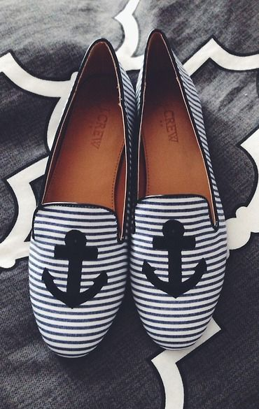 Anchor stripe flats