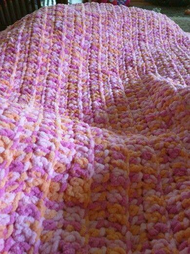 Toddler Size Blanket Double Crochet With Bernat Super