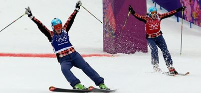 Marielle Thompson of Whistler, B.C won a gold medal and Kelsey Serwa of Kelowna, B.C., captured a silver medal in women's skicross Friday at the Sochi 2014 Winter Games.