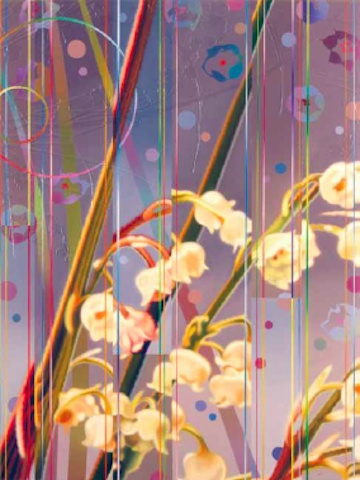 Dany Vescovi, Senza titolo, tecnica mista su lino, 80x60cm, 2010
