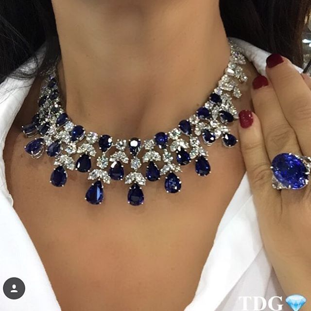http://rubies.work/0601-emerald-rings/ GRAFF Diamond and Sapphire Necklace and Ring......