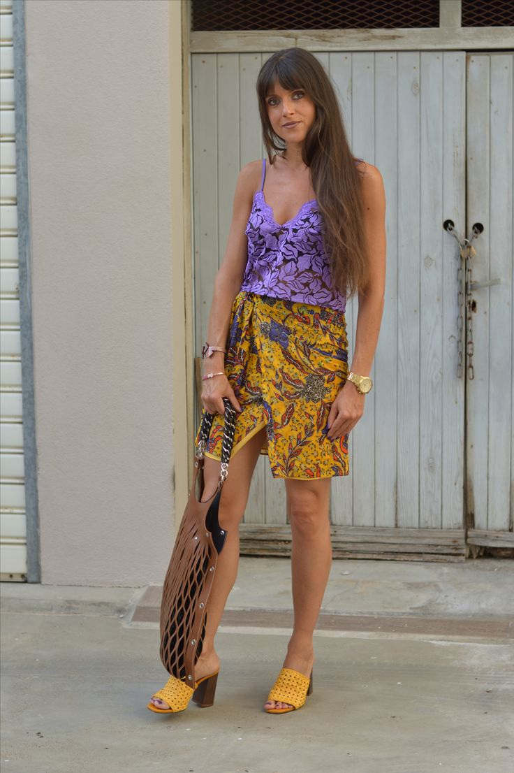 Color Clash Outfit ♥ Lilac & Yellow ♥ Mango