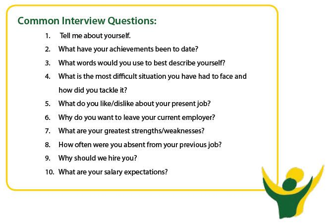 How to handle common job interview questions