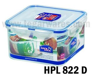 Lock and Lock HPL 822D: size 155 x 155 x 87mm kapasitas 1,2 L