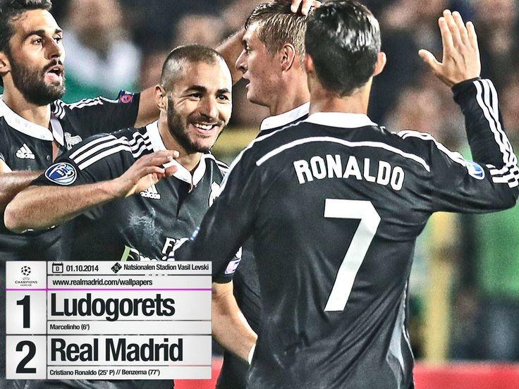 Real Madryt, Ludogorets, UEFA Champions League #realmadrid #ludogorets #CR7 #Benzema