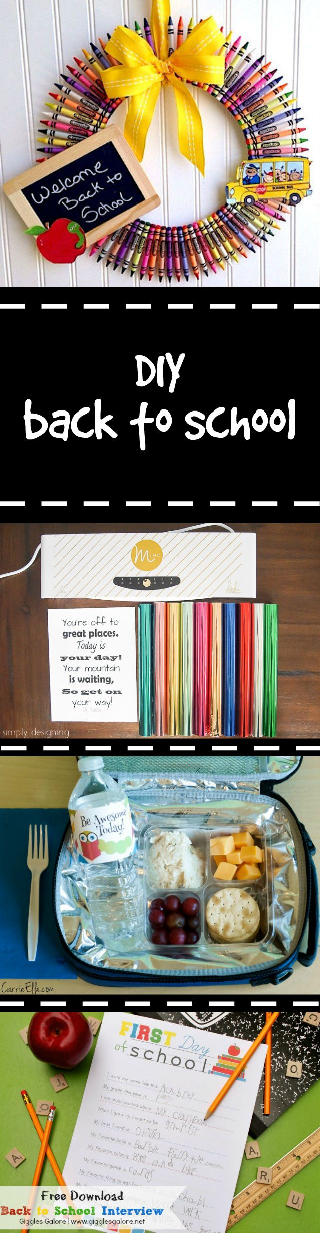DIY Back to School Ideas! It's that time of year... click on this to get some…
