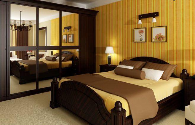Лучезарные спальни в желтых тонах
