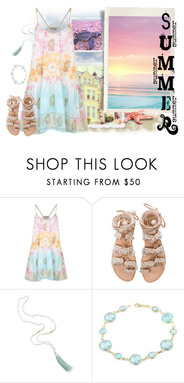 """""""Pastel Summer"""" by heavenly-spider ❤ liked on Polyvore featuring Isharya, Juliet Dunn and Elina Linardaki"""
