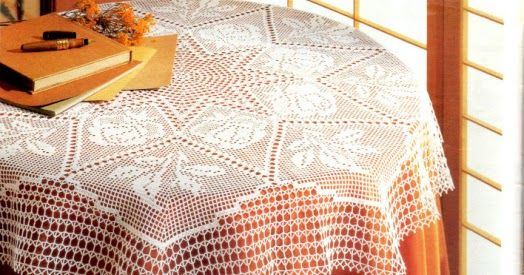 Large tablecloth with roses