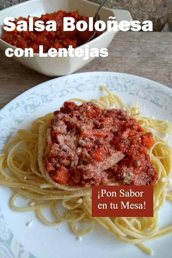 Salsa Boloñesa Con Lentejas Recetas Rapidas Y Saludables Recetas Vegetarianas Lentejas