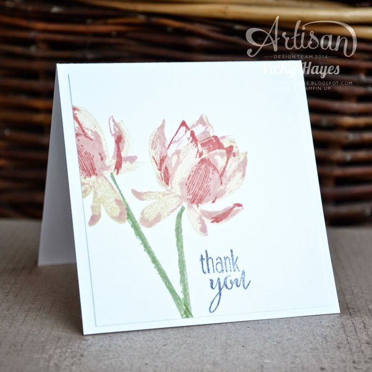 Stampin' Up ideas and supplies from Vicky at Crafting Clare's Paper Moments: Lotus Blossom - free with Sale-a-bration