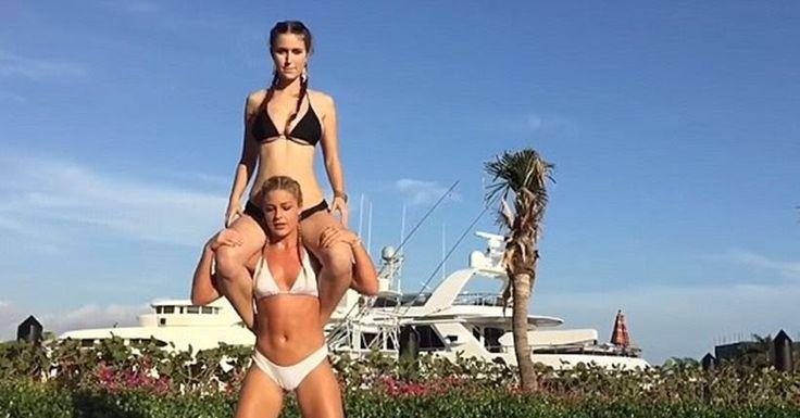 Βίντεο: Μοντέλο κάνει σέξι βαθιά «καθίσματα» με βάρος την... αδελφή της