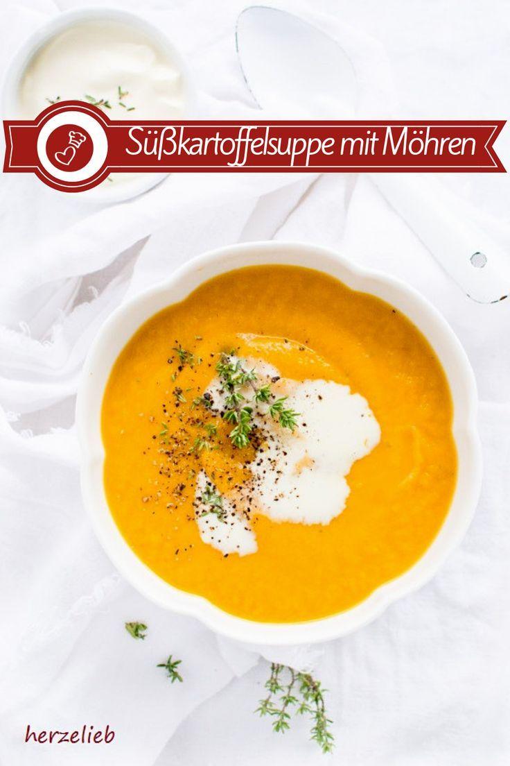 Süßkartoffelsuppe mit Möhren – geröstet und einfach gut! (Suppe) – herzelieb – mein Foodblog aus dem Norden