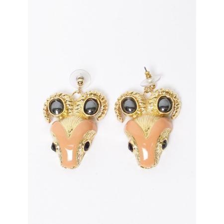 Suno Ram's Head EarringsSuno Earrings, The New, Peaches Enamels, Lizzie Lucky, Earrings Piercing, Crystals Ears, Rams Head, Head Earrings, Suno Rams