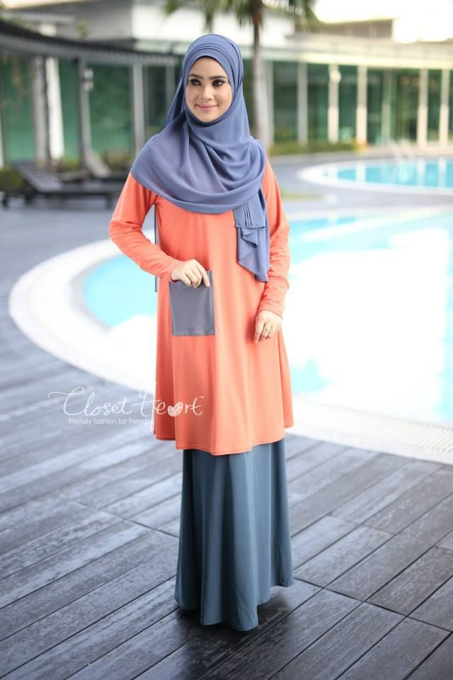 ALWANI TOP  CODE : CHALT 180 AVAILABLE SIZE ( S,M & XL) Color: Orange pocket Grey  Material: Moss Crepe Price: RM100 (exclude postage)  SKIRT (READY STOCK) Code: CHS 117 Color: Greyish Blue Material: Lycra Price: RM110 (exclude postage)  RUMAISA PLEATED SHAWL (READY STOCK) Code: DHRPS 004 Color: Grey  Material: Georgette Chiffon Price: RM55 (exclude postage)  *kindly PM us to purchase. tqvm