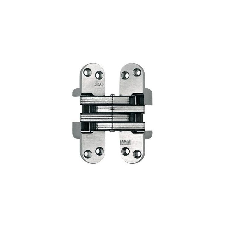"Soss 218IC 4-5/8"" High Invisible Hinge for Heavy Duty Satin Chrome Cabinet Hinges Inset Hinges Invisible Hinges"