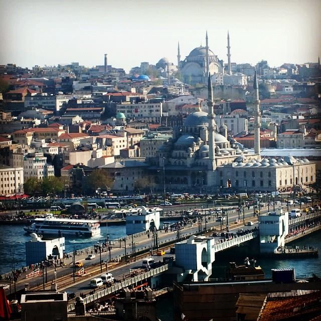 View over the Golden Horn, #Istanbul from Istanbul!Place Apartments in #Galata. Beautiful. :) https://www.pinterest.com/istanbulplace/